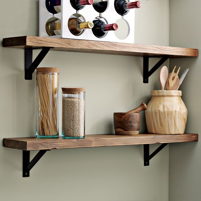 Salvaged Wood Shelf - Traditional - Display And Wall ...