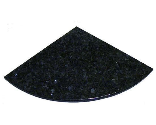 Blue Pearl Granite Stone Corner Shelf 8 inch -