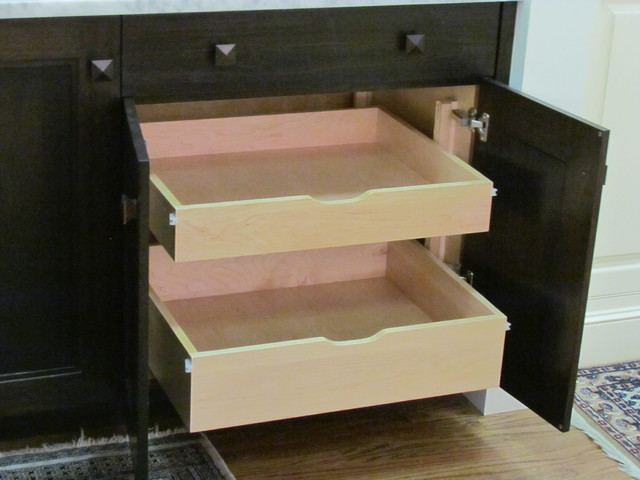 Roll Out Trays - Traditional - Kitchen Drawer Organizers - boston - by Architectural Kitchens Inc.