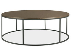 Tyne Round Cocktail Tables in Natural Steel - Cocktail Tables - Living - Room &