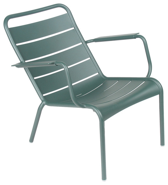 Fermob Luxembourg Low Chair Modern Outdoor Chairs by FermobUSA