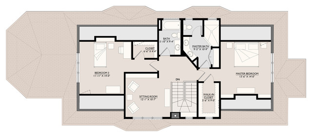 Basement and attic remodel to a traditional brick bungalow for Chicago bungalow house plans