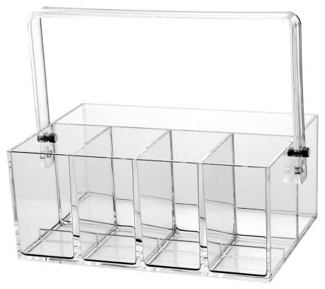 All Clear Acrylic Flatware Utensils Caddy modern-utensil-holders-and-racks