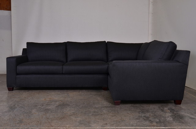 Matthews Sectional In Sunbrella Trax Charcoal