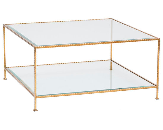 High Fashion Home Product 2 - http://www.highfashionhome.com/quadro-2-tier-square-coffee-table--gold.html