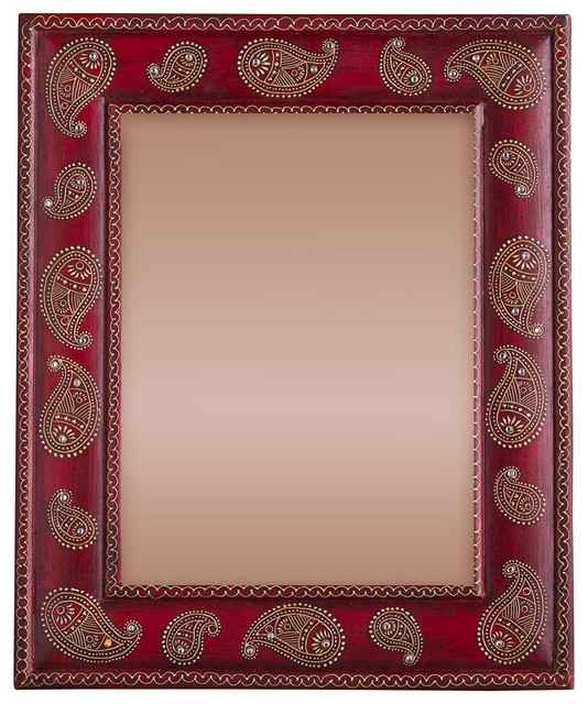 Hand-painted Paisley Photo Frame - Asian - Picture Frames ...