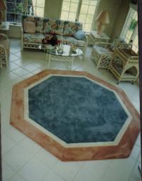 Octagan Border Rug eclectic-carpet-tiles