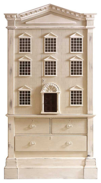 ... Tall Dollhouse 3 Drawer Dresser Cabinet transitional-storage-cabinets