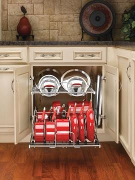 Kitchen Storage Ideas For Pots And Pans pot and pan storage ideas.