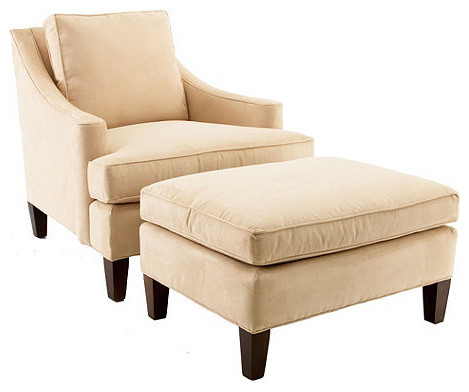Manchester Chair & Ottoman traditional-dining-chairs