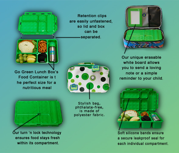 Go Green Lunch Box contemporary food containers and storage