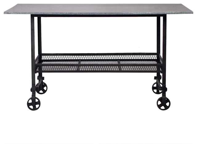 Madison Industrial Style Rolling Table Industrial