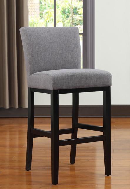 Portfolio Orion Charcoal Gray Linen Upholstered 29 inch ...