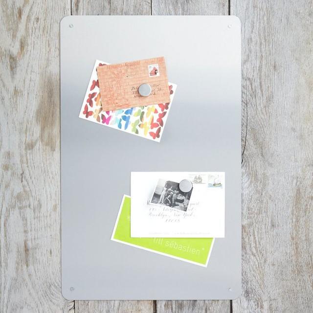 Steel entry butler modern bulletin board by west elm for Modern bulletin board