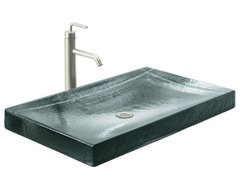 KOHLER Antilia Wading Pool Countertop Bathroom Sink in Ice contemporary bathroom sinks