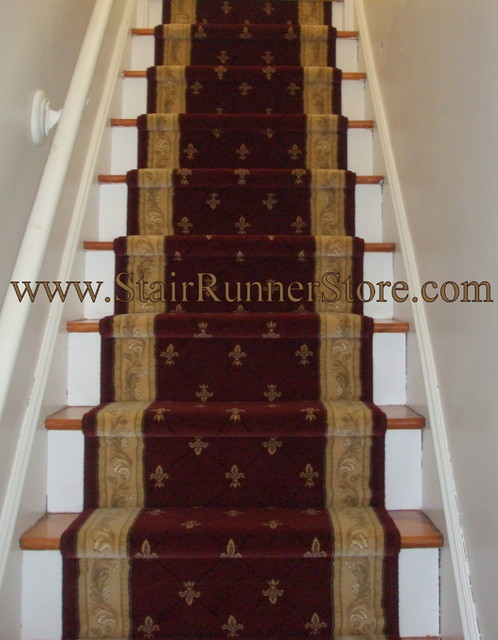 Straight Staircase Stair Runner Installations