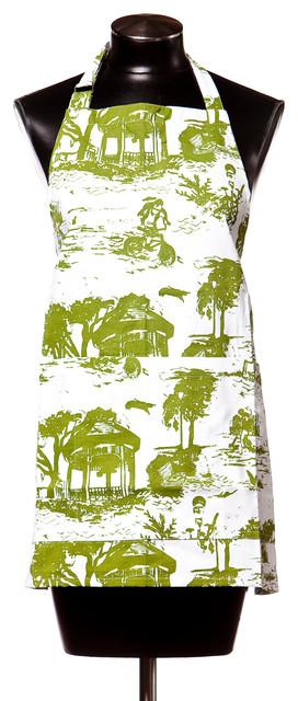 Savannah Toile Collection - Apron - Gecko contemporary-aprons
