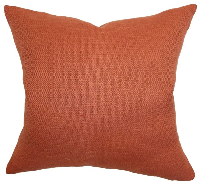 Decorative Pillows Plain : Iduna Plain Pillow Rust 18