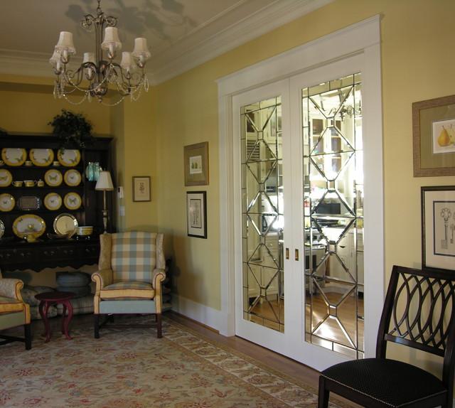 Pocket Doors In Beveled Glass Traditional Philadelphia