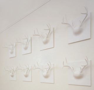 Contemporary hooks and hangers for Ghost antler coat rack