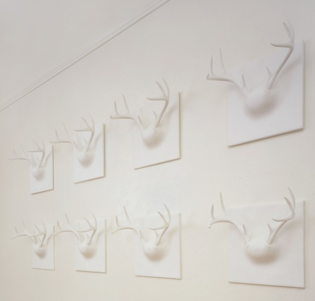 Erich Ginder Ghost Antler Coat Rack contemporary hooks and hangers