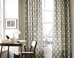 Ikat Ogee Linen Window Panel | west elm mediterranean curtains