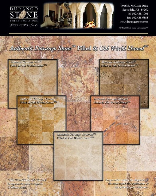 Authentic Durango Stone™ Resin-Filled & Old World Honed™ Tile traditional-wall-and-floor-tile