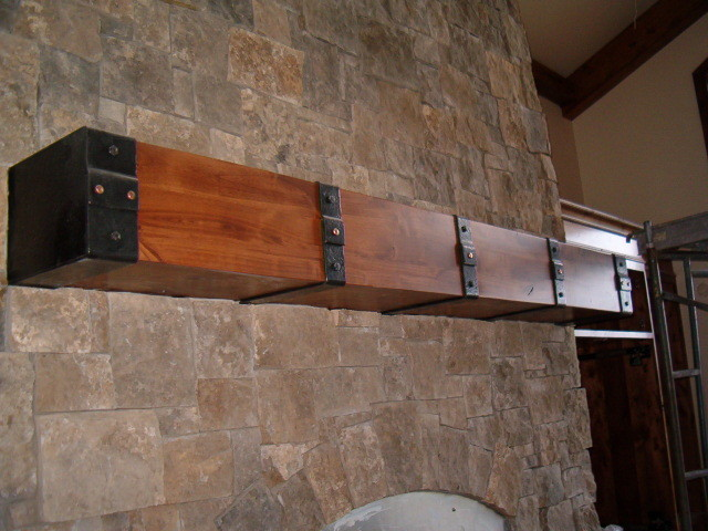 Copper Rivet Mantel Straps Rustic Fireplace Surrounds