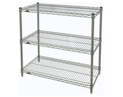 Metro Shelving Unit - 48x14x33 Chrome industrial-garage-and-tool-storage