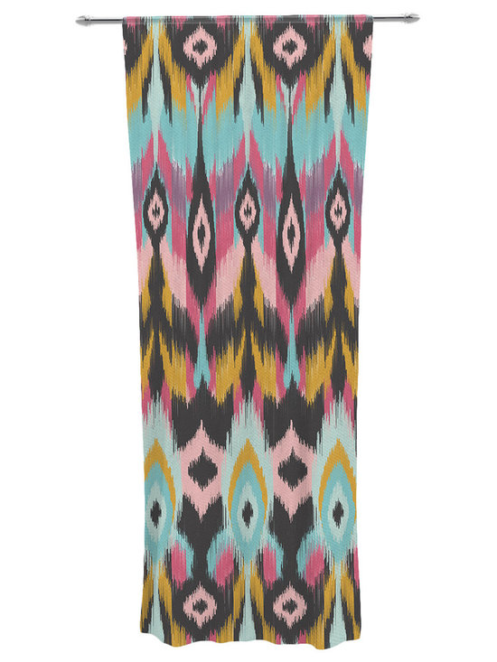 """Kess InHouse - Amanda Lane 'Bohotribal' Decorative Sheer Curtain - Let the light in with these sheer artistic curtains. Showcase your style with thousands of pieces of art to choose from. Spruce up your living room, bedroom, dining room, or even use as a room divider. These polyester sheer curtains are 30"""" x 84"""" and sold individually for mixing & matching of styles. Brighten your indoor decor with these transparent accent curtains."""