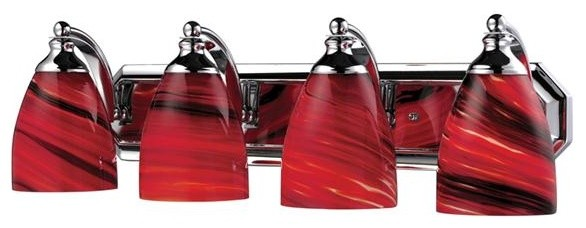 Elk Lighting 570-4C-A 4 Light Bathroom Fixture Vanity Collection bathroom-vanity-lighting