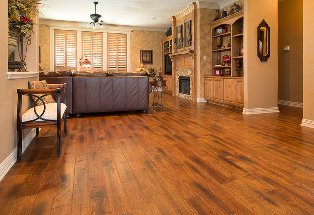 Wood flooring traditional living room dallas by american tile stone for Living room with wood floors