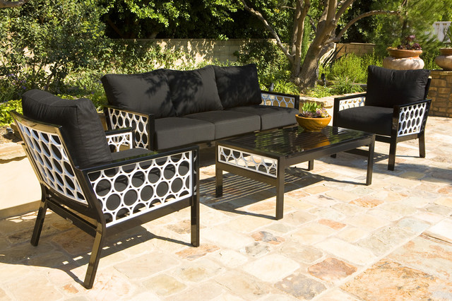Koverton Parkview Cast Deep Seating Group with Cushions Contemporary Pati