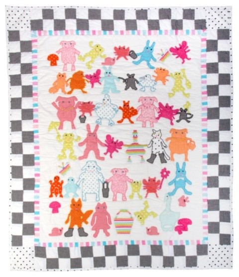 Animal Parade Baby Quilt | MacKenzie-Childs eclectic-baby-bedding