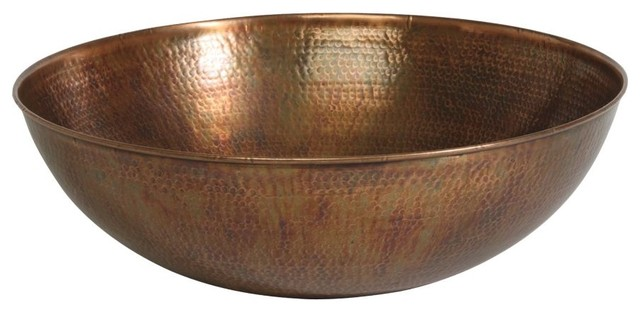 aged copper hammered bowl traditional-serving-utensils