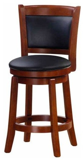 Chandler Oak Finish 24-inch Swivel Counter Stool contemporary-bar-stools-and-counter-stools