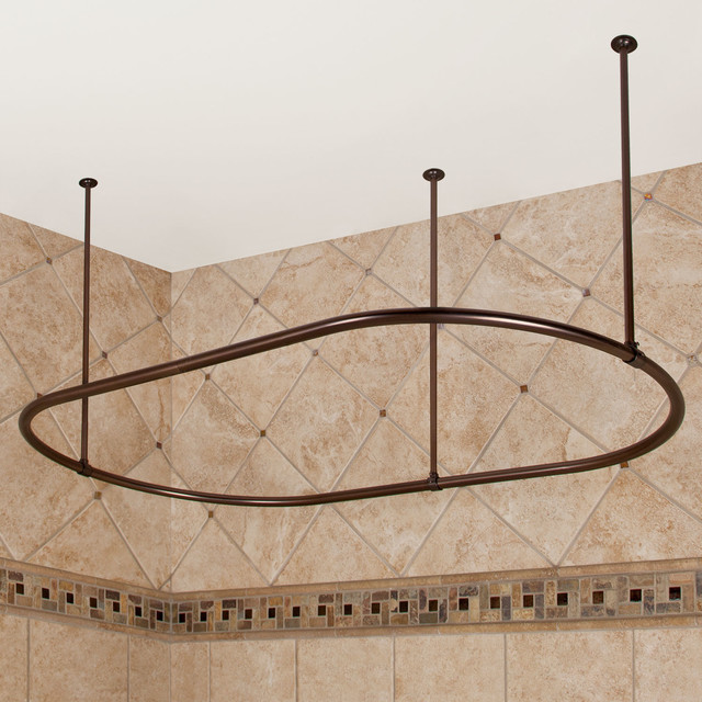 Oval Shower Curtain Rod - Contemporary - Shower Curtain Rods