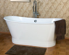 68 Kateryn Cast Iron Bateau Tub with Plain Skirt traditional bathtubs