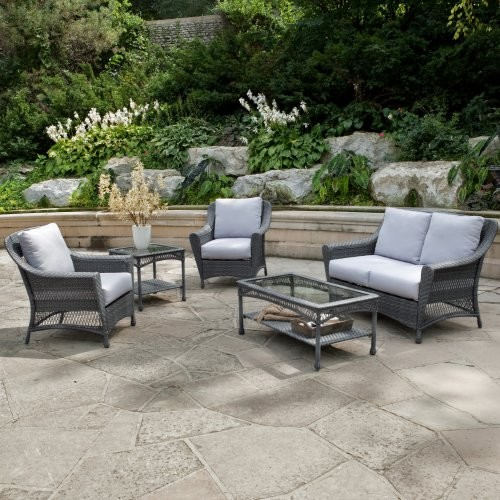 Palazetto Arbor All Weather Wicker Loveseat contemporary-patio-furniture-and-outdoor-furniture