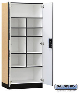 Designer Wood Storage Cabinet - Standard - 76 Inches High - 18 Inches Deep contemporary-storage-cabinets