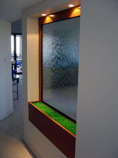 Indoor custom water feature ideas indoor fountains - Wall mounted water feature ...