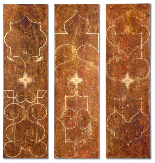 Scrolled Panel I, II, III - Set Of 3 modern-artwork