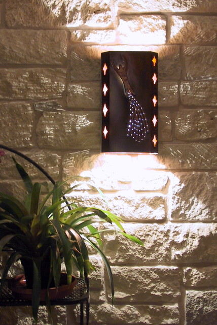 Southwest Exterior Wall Sconce Lighting - wall sconces - austin