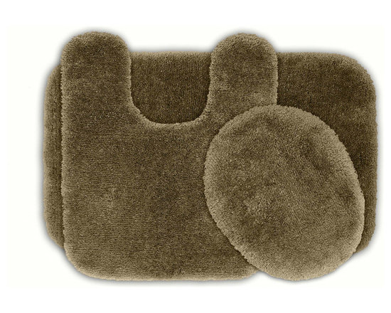 Sands Rug - Posh Plush Taupe Washable Bath Rug (Set of 3) - Revel in spa-like luxury every time you step into your bath with the Posh Plush collection of bath rugs. The amazingly soft, yet durable, nylon plush is machine washable, and each floor piece has a non-skid latex backing for safety.