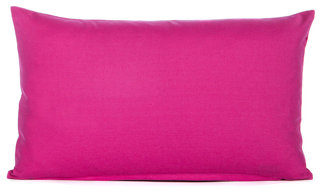 solid hot pink accent throw pillow cover contemporary decorative pillows by silver fern. Black Bedroom Furniture Sets. Home Design Ideas