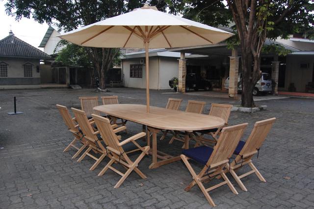 Teak patio Furniture modern-living-room-chairs