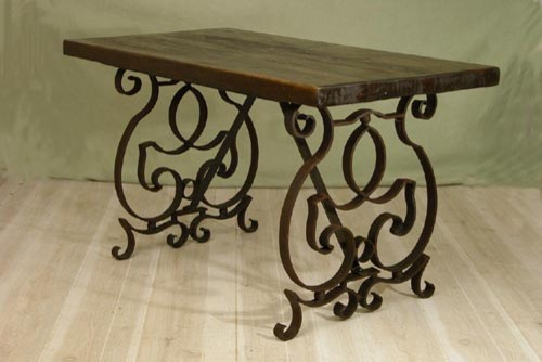 Large Harvest Iron Table eclectic outdoor tables