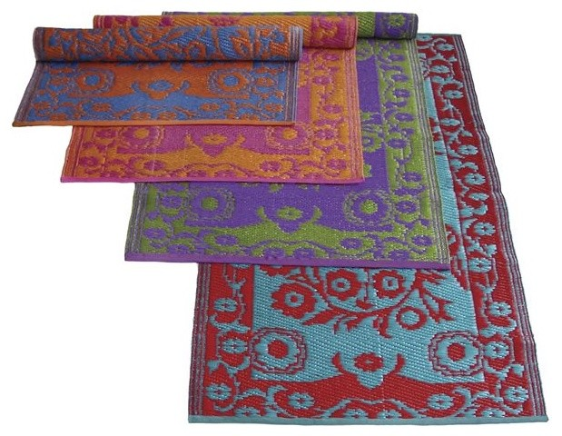 Double Color Oriental Outdoor Plastic Rugs outdoor-rugs