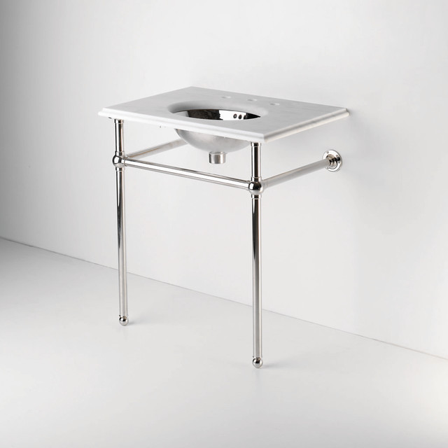 Metal Round Two Leg Single Washstand | Waterworks ...