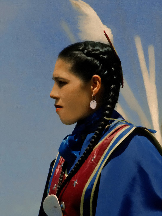 Lakota Woman - Copyright Jeanne Apelseth, sunchaser@rap.midco,net